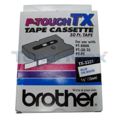 BROTHER P-TOUCH TAPE BLUE/WHITE (12MM X 15 M)